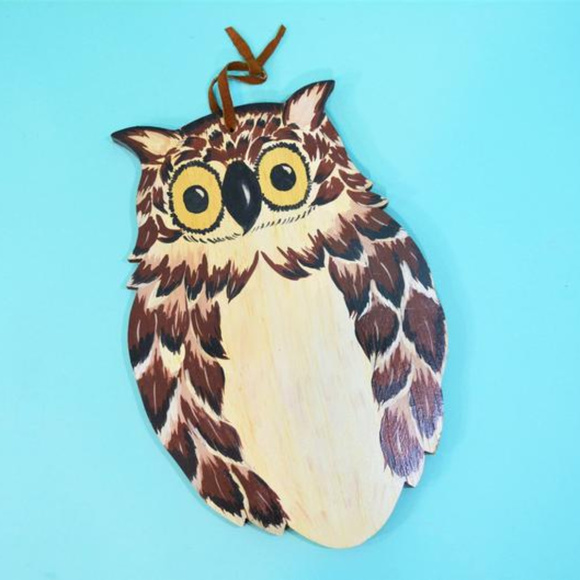 Vintage Other - Vintage 1970s Wood Owl Wall Hanging